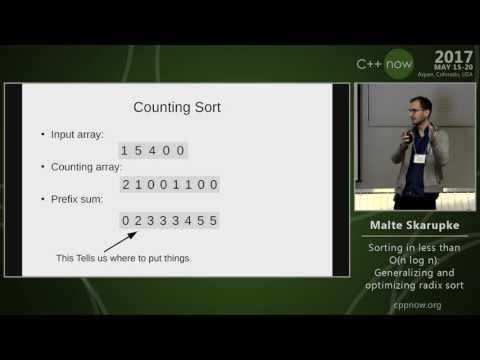"C++Now 2017: M. Skarupke ""Sorting in less than O(n log n): Generalizing and optimizing radix sort"""