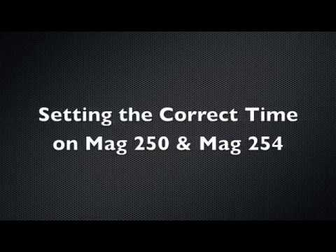 How to set the correct timezone on Mag 250 & Mag 254