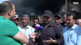 داعش حرق ابار النفط في القيارة