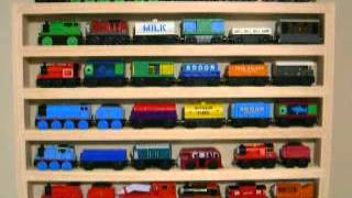 Thomas The Train Wall Display Wooden Storage Rack