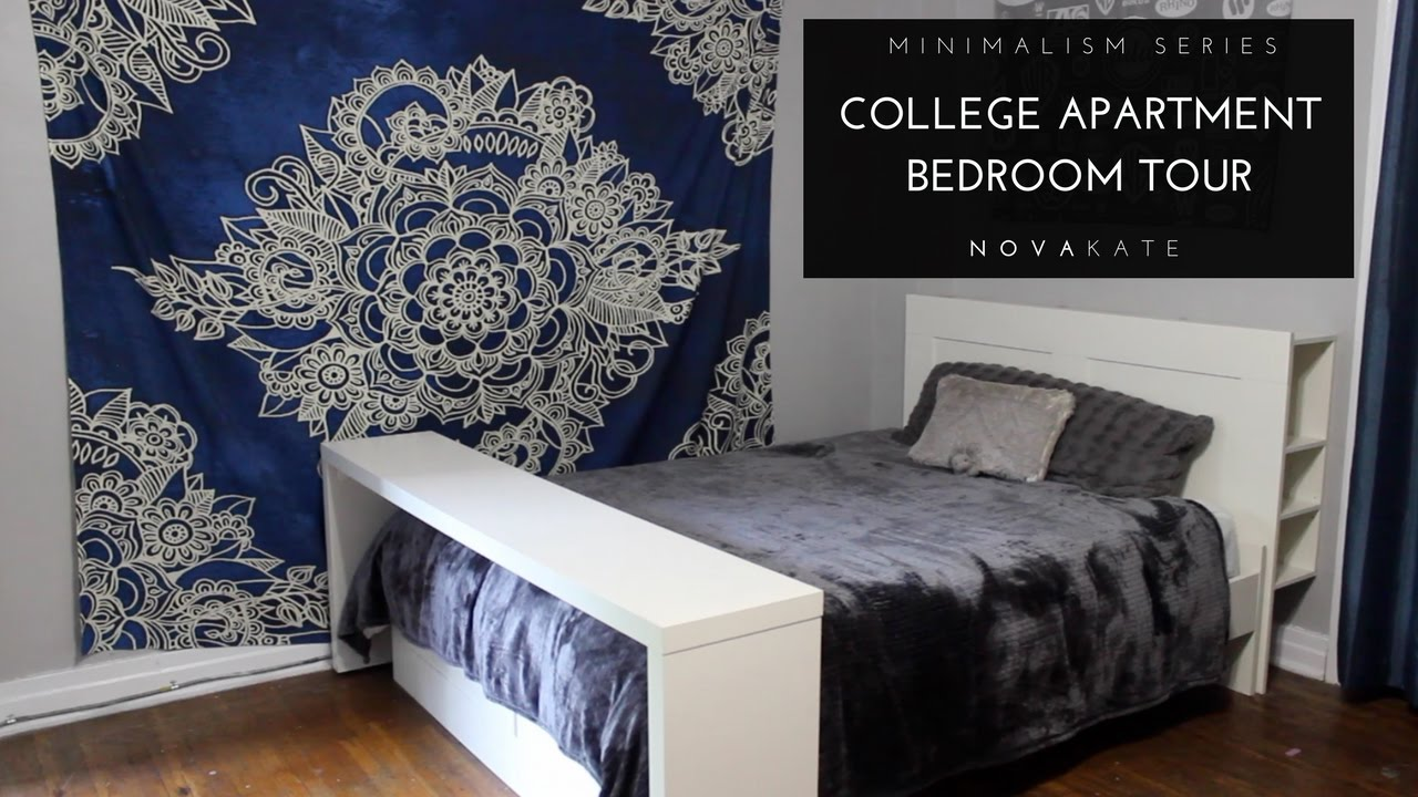 college apartment bedrooms. Minimalist Room Tour  Vlog My Minimal College Apartment Bedroom Minimalism Series