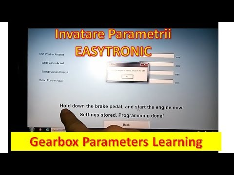Invatare Parametrii EASYTRONIC Gearbox Parameters Learning