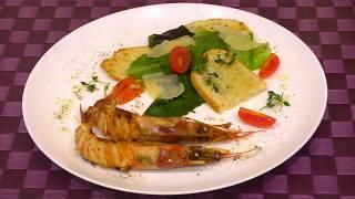 Салат Цезарь с креветками  Вкусный салат