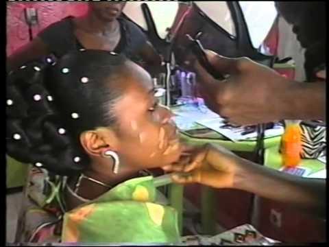 Coiffure de mariee ivoirienne