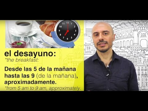 Learn Spanish: (47) The meals in Spanish