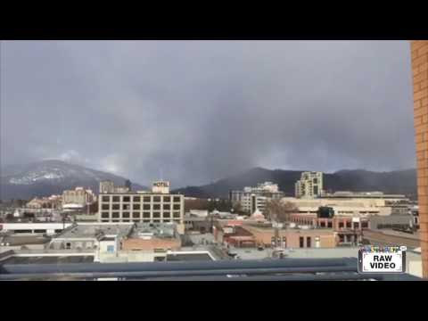 Raw: Black cloud downtown