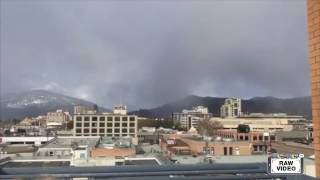 Raw: Black cloud downtown