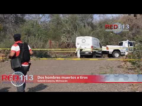 VIDEO Dos hombres muertos a tiros son localizados en la carretera Los Cajones-Nuevo Urecho