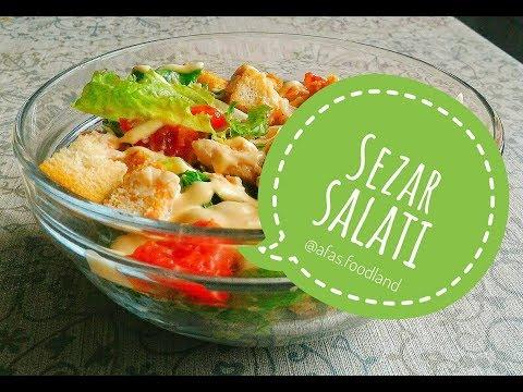 Sezar salatı necə hazırlanır? Sezar salatının hazırlanması I Afa's foodland