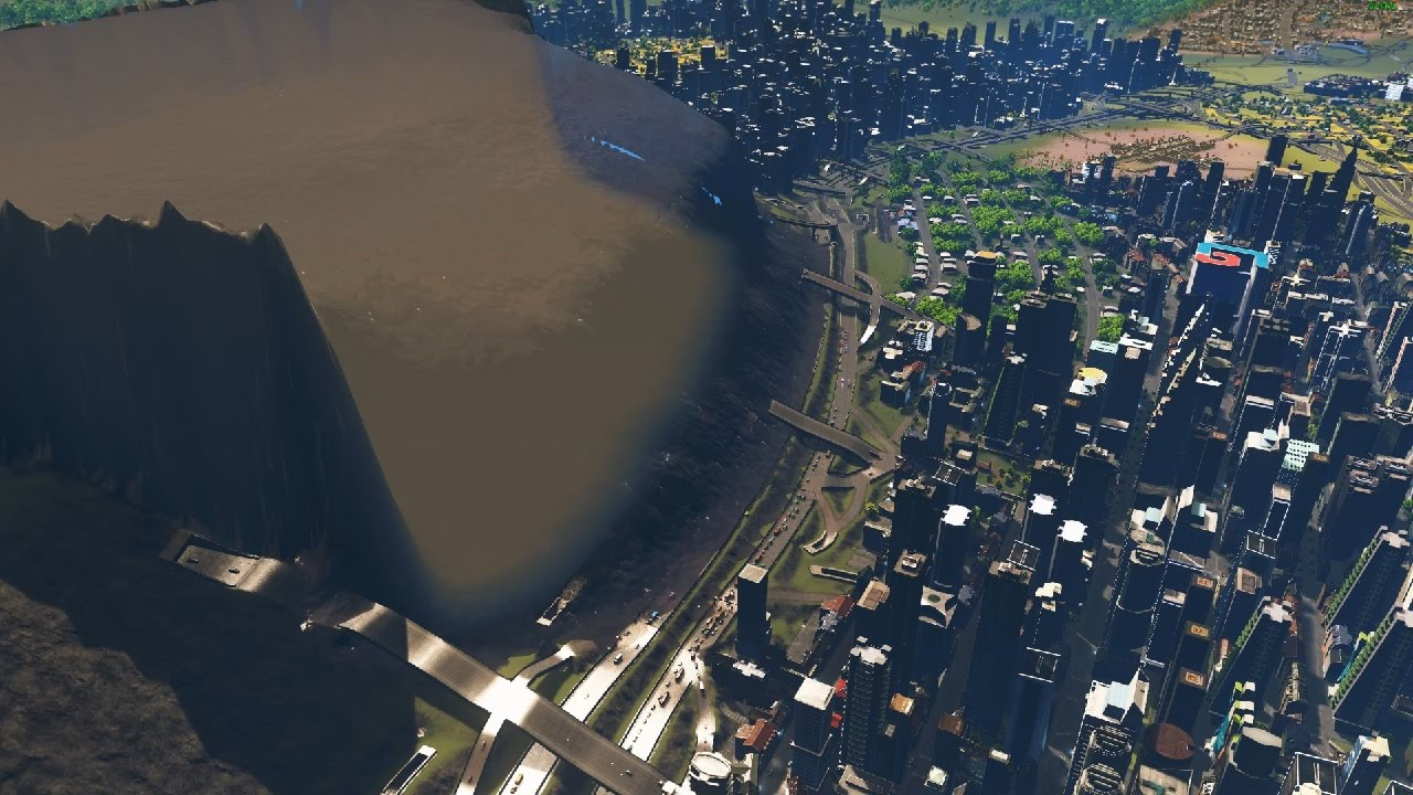 cities skylines sewage tsunami youtube