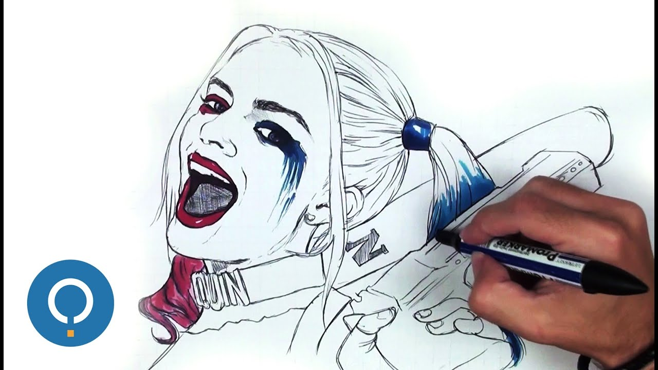 Harley Quinn Disegno Passo A Passo Youtube