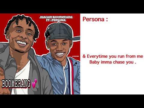 Jhacari : BOOMERANG  Ft Persona ( official lyric video ) Prod . DerajGlobal