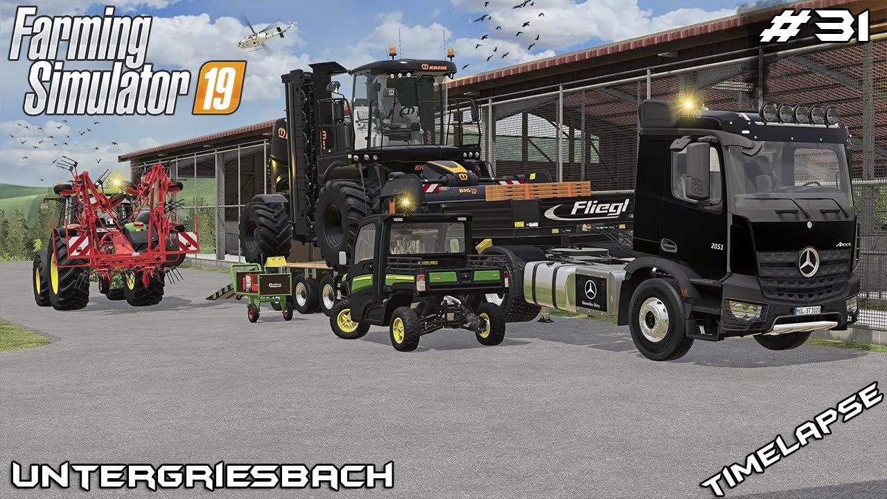 KRONE BiG M 450 and teddering fields | Animals on Untergriesbach | Farming Simulator 19 | Episode 31