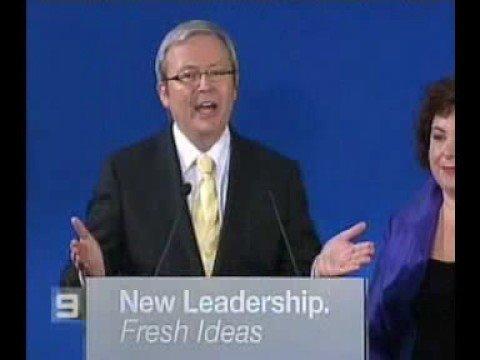 Kevin Rudd Election Winning Speech Part 1 2007 Youtube