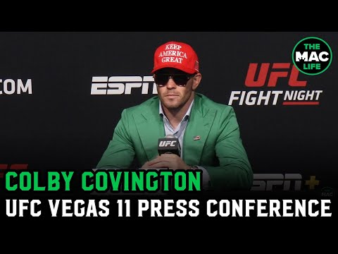 Colby Covington Pre-Fight Press Conference - UFC Vegas 11