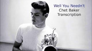 Скачать Well You Needn T Chet Baker S Bb Transcription Transcribed By Carles Margarit