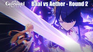 Genshin Impact - Baal Final Boss Fight (Raiden Shogun vs Aether Ending)