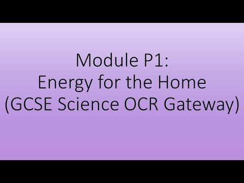Module P1 - Energy for the Home Quiz (GCSE Science OCR Gateway)