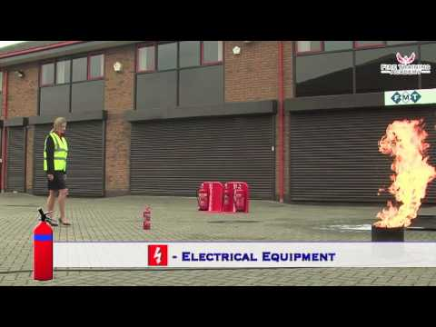 Fire Safety Training - How to use a DRY POWDER Fire Extinguisher