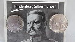 Münzen Deutsches Reich und Hindenburg Silbermünzen als Wertanlage
