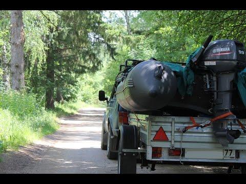 Перевозка лодки ПВХ на бортовом прицепе МЗСА | Универсальный вариант прицепа