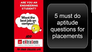 5 must do aptitude questions for placements