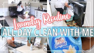ALL DAY CLEAN WITH ME / LAUNDRY ROUTINE 2021 / CLEANING MOTIVATION / SPEED CLEANING