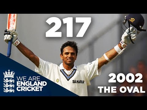 Rahul Dravid Hits 217 at The Oval | England v India 2002 - Highlights