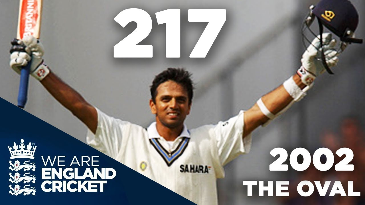 Rahul Dravid Hits 217 at The Oval   England v India 2002 - Highlights