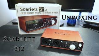 focusrite scarlett 2i2 unboxing