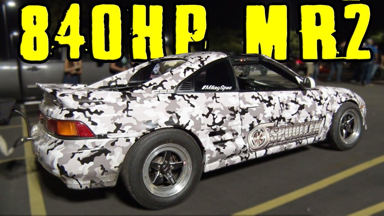 800+hp K24 Toyota MR2 vs GT-R and 1000hp Camaro STREET RACE! - YouTube