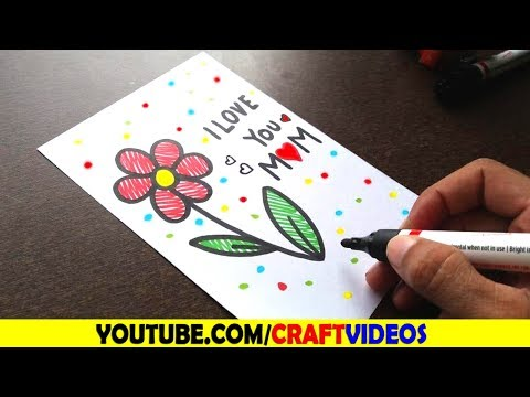 HOW TO DRAW MOTHERS DAY CARD | Mothers Day Drawings