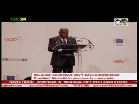 President Akufo-Addo at 2017 European Development Days Conference