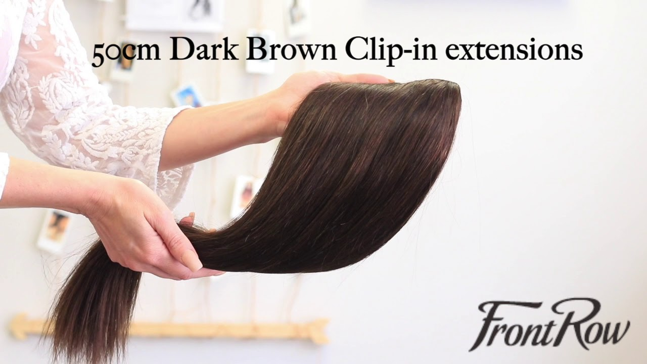 Frontrow Dark Brown Hair Extensions Color Youtube