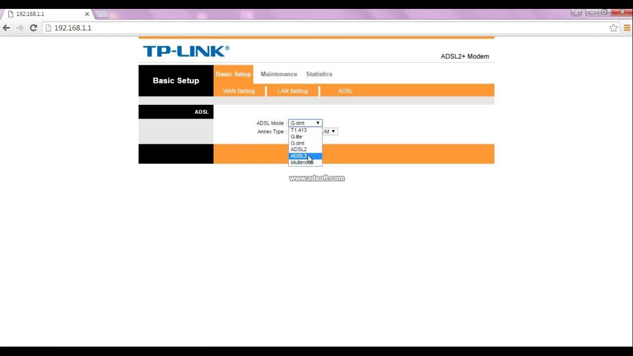 Drivers TP-Link TD-8616 v6 Modem