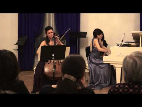 Debussy and  Poulenc- sonatas for cello and piano. Anastasia Zhivotovskaya&Nataly Kislitsyna