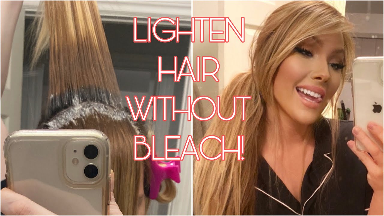 HOW TO LIGHTEN YOUR HAIR WITHOUT BLEACH! | DIY AT HOME ...