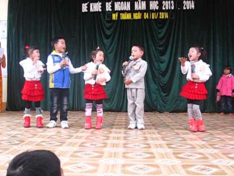 Màn chào hỏi cuộc thi BKBN lớp 5A Trường Mầm Non Mỹ Thành-Yên Thành-Nghệ An