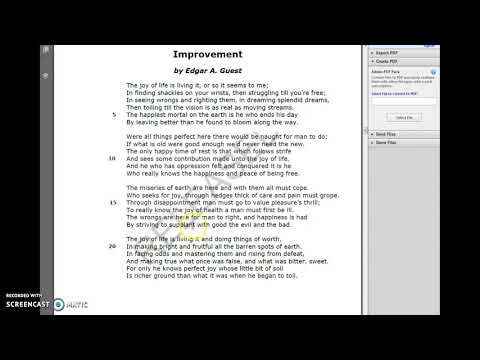 EOC Review on poem Improvement from Released Eng I