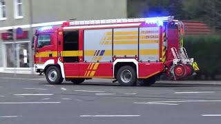 Großaufgebot Feuer Im FSV Zwickau Stadion+ Menschenleben in Gefahr