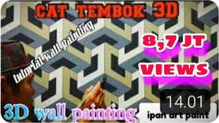 Wall paint 3D-3D wall painting- 3D wall paint tutorial