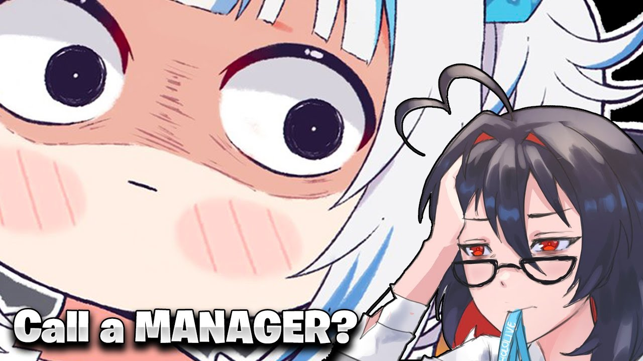Gura, now make a prank call to a manager! 【Hololive EN】