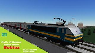 Rails Unlimited HLE 27 et M4 SNCB NMBS Belgium Railway Roblox