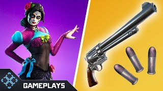 New Fortnite Six Shooter Gameplay | Fortnitemares Halloween Skins | Fortnite Battle Royale