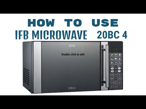 How to use  IFB microwave 20BC4 full demo