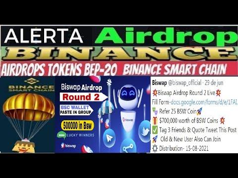 [ Airdrop BISWAP Round 2 ] Ganhe $100 em Tokens BSW | Limitado $700.000 | 25 BSW por Ref | Renda