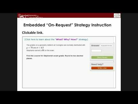 Embedding Experiments in Online Educational Resources to Understand and Improve Learning (Talk at...