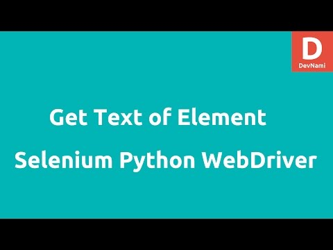Get text of element in Selenium Python WebDriver - YouTube