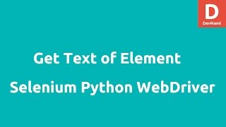 Get text of element in Selenium Python WebDriver