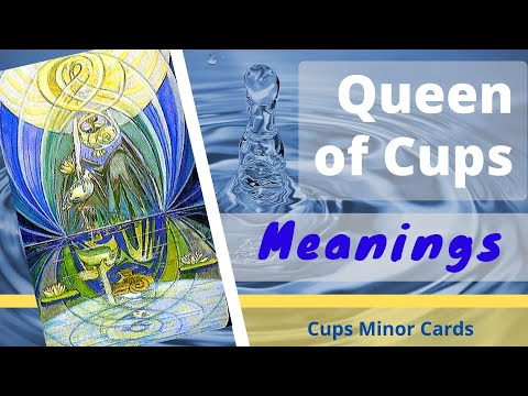 Queen of Cups court card meanings and description - YouTube